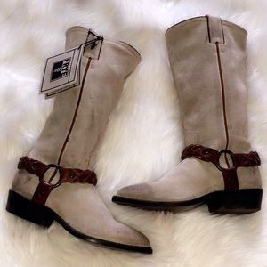 🆕FRYE Cream Suede Leather Tall Boots